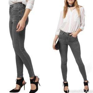 Topshop   Gray High Jamie Skinny Jeans Zip Ankle